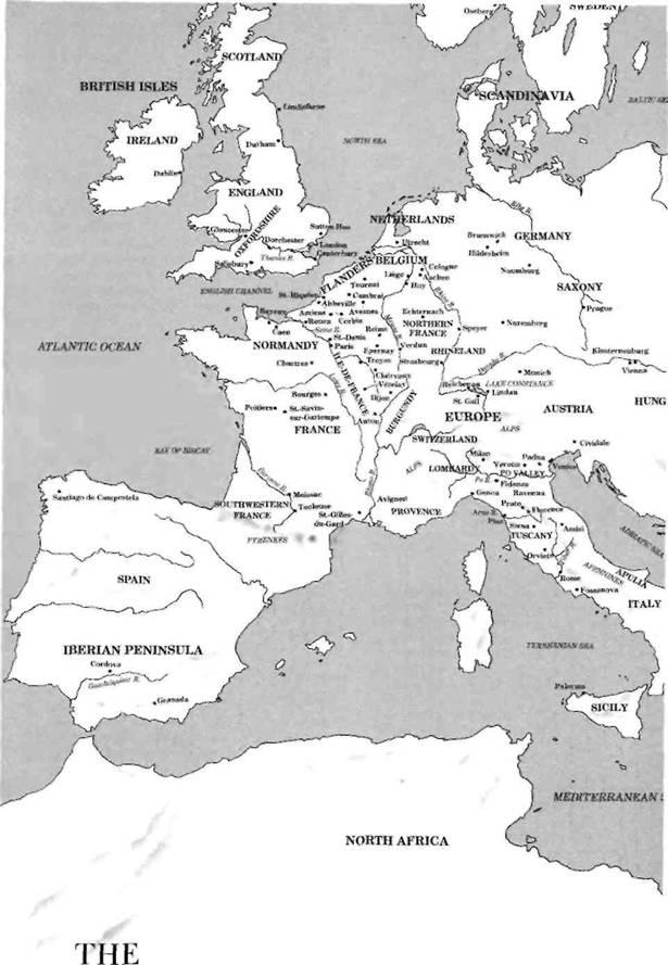 современную карту Европы,